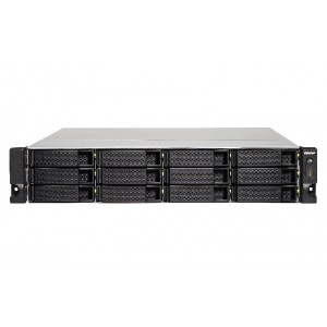 QNAP TS-1273U-8G High-performance Quad-Core 12-bay Rackmount NAS / Single Power Supply