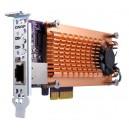 QNAP QM2-2S10G1T Dual M.2 2280 SATA SSD & single-port 10GbE expansion card