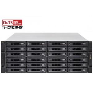QNAP TS-h2483XU-RP-E2236-128G 24-Bay Rackmount NAS with Intel Xeon E Processor / QuTS hero